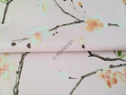 pimennys verhokangas kukakakangas kukka verhokangas vaaleanpunainen verhokangas